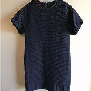NWT J. Crew Blue Pleated Chiffon Tshirt Dress